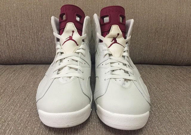 Air Jordan 6 Maroon with Nike Air (3)