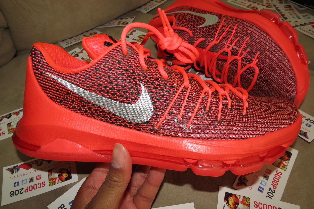 Nike KD 8 Christmas White Black Bright Crimson