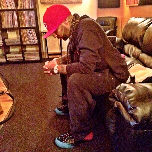 Joe Budden wearing Nike Air Foamposite Pro Spider-Man