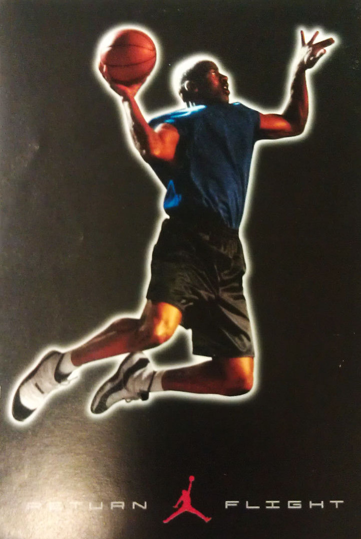 Michael Jordan 'Return Flight' Nike Air Jordan Poster (1994)