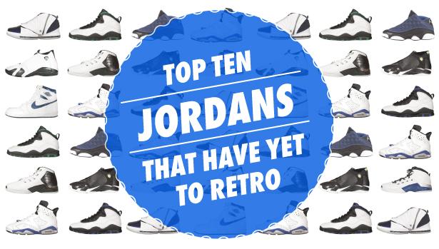 list of all jordans