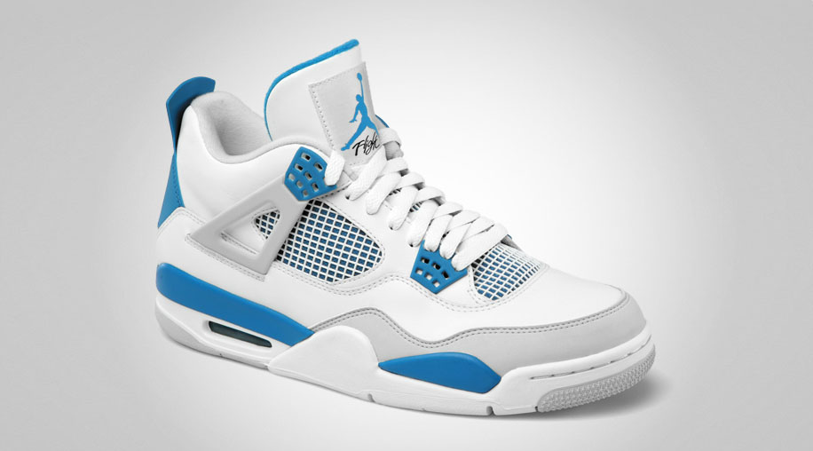 timeless design 2391b 9baee Air Jordan Retro 4 - Military Blue - Official Photos | Sole ...