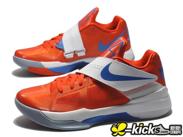 aaf0ec8bb5fd Nike Zoom KD IV Team Orange Photo Blue White 473679-800 (2)