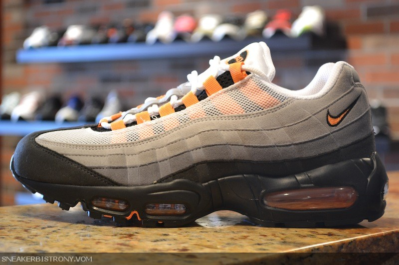 info for buy pick up Air Max 95 - White/Bright Mandarin-Neutral Grey | Sole Collector