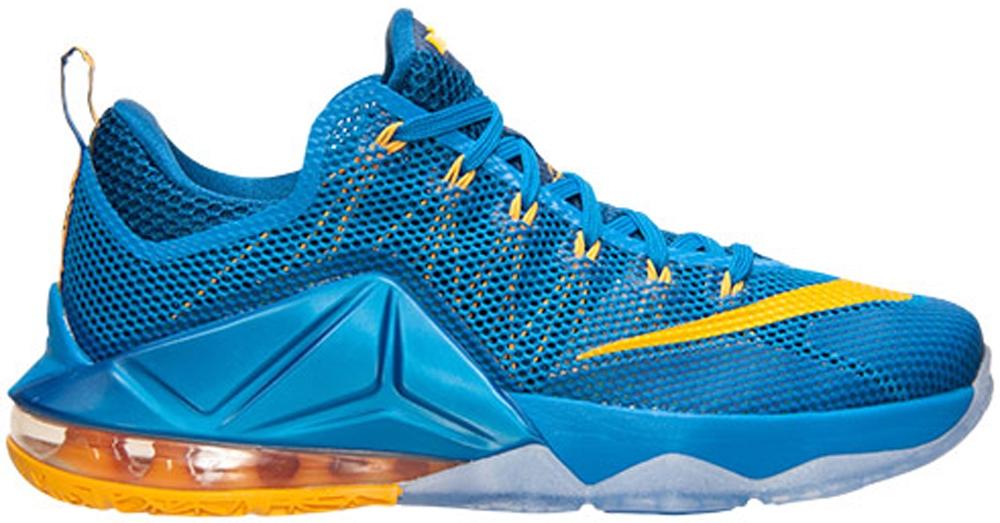 Nike LeBron 12 Low Photo Blue/University Gold-Gym Blue
