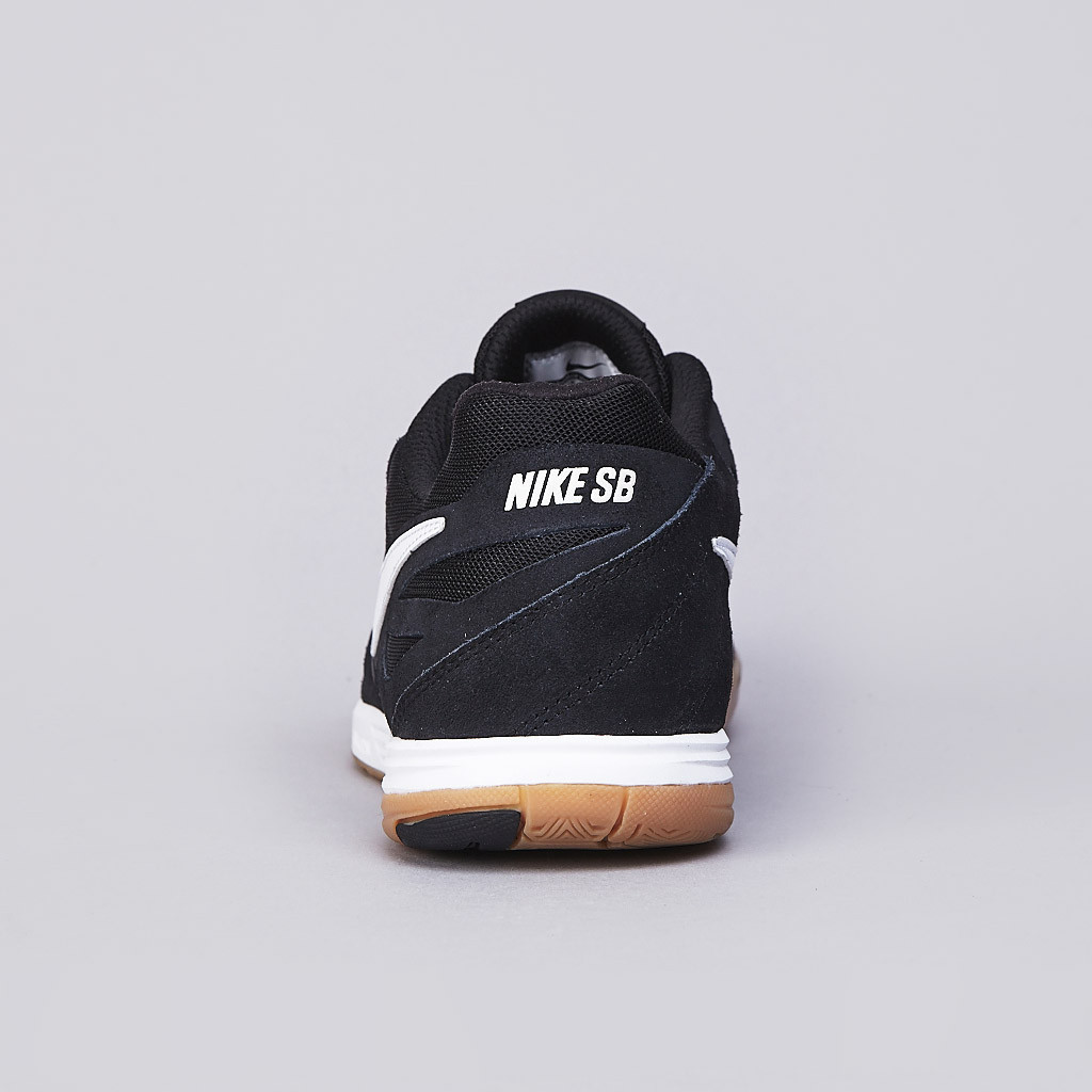 Nike SB Lunar Gato in black white gum heel close up