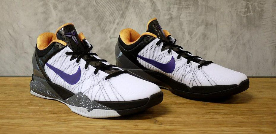 2dd77dd54a0a Nike Zoom Kobe VII 7 White Black Gold Purple 488371-103 (1)