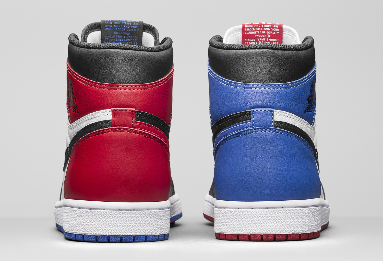 c186f17a60cf5e Image via Nike Air Jordan 1 Top Three 555088-026 Heel
