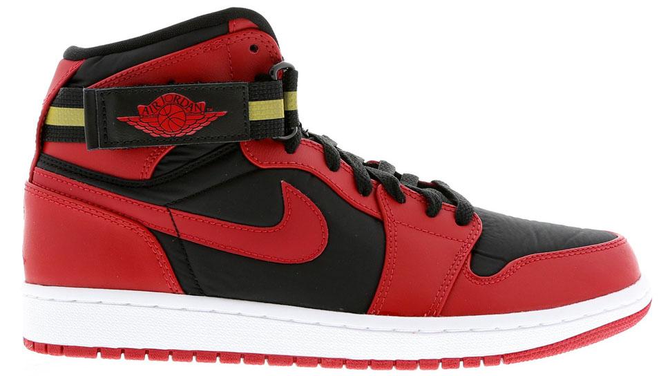 626bf73cf314 Air Jordan 1 Retro High Strap Black Gym Red-White Release Date 342132-