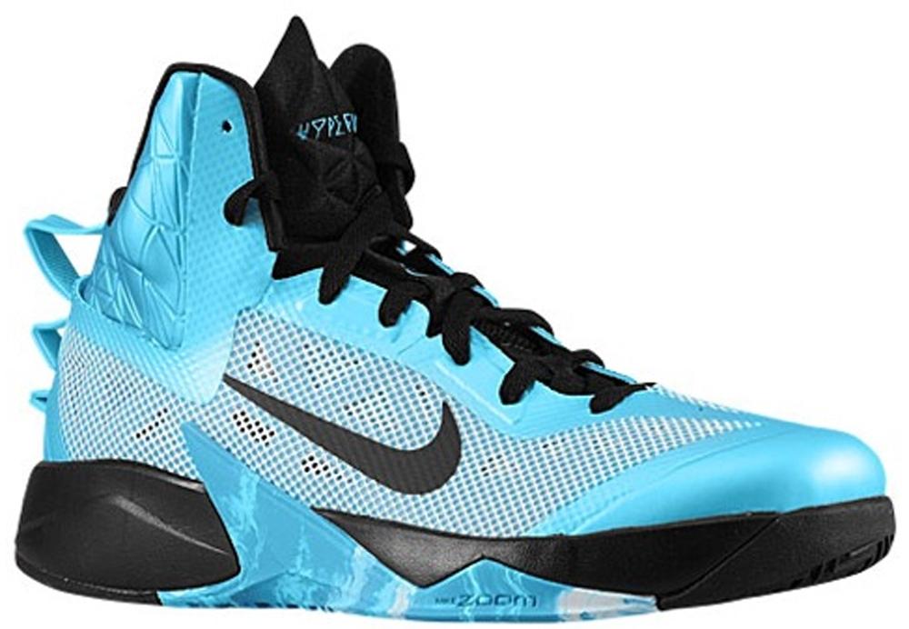 Nike Zoom Hyperfuse 2013 N7 Summit White/Black-Dark Turquoise-Tide Pool Blue