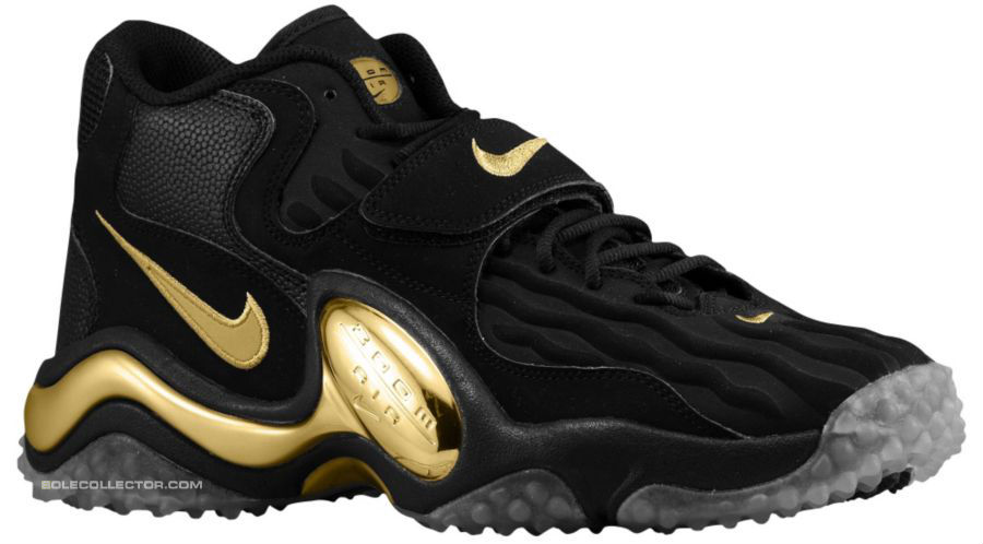 Nike Air Zoom Turf Jet 97 Black Metallic Gold Pure Platinum 554989-005