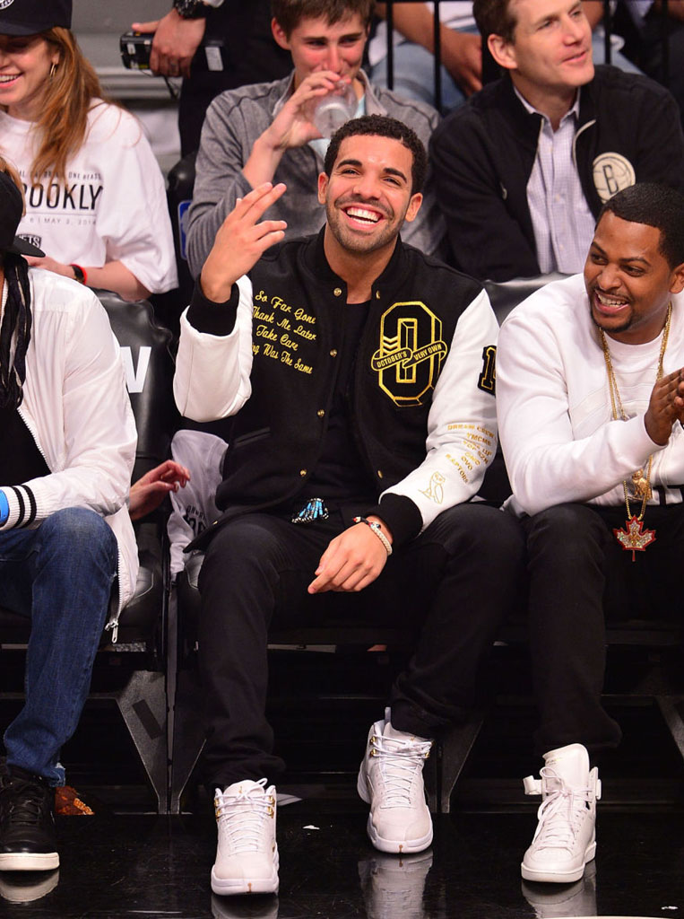 Drake Wearing White 'OVO' Air Jordan 12 (7)