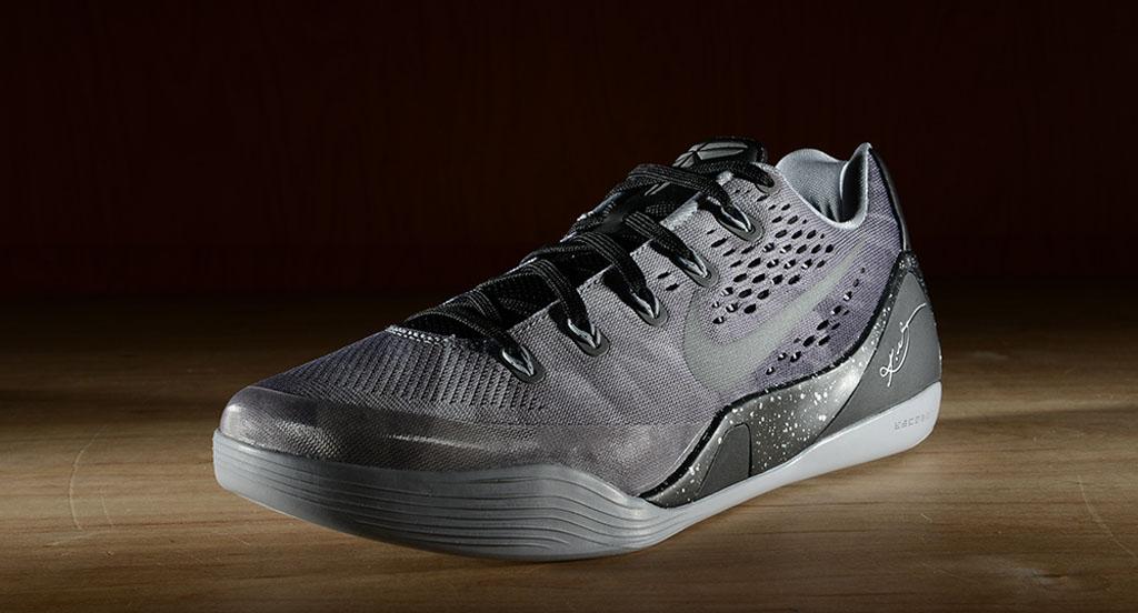 f1e03632d3a9 Nike Kobe 9 EM Premium Black Metallic Silver