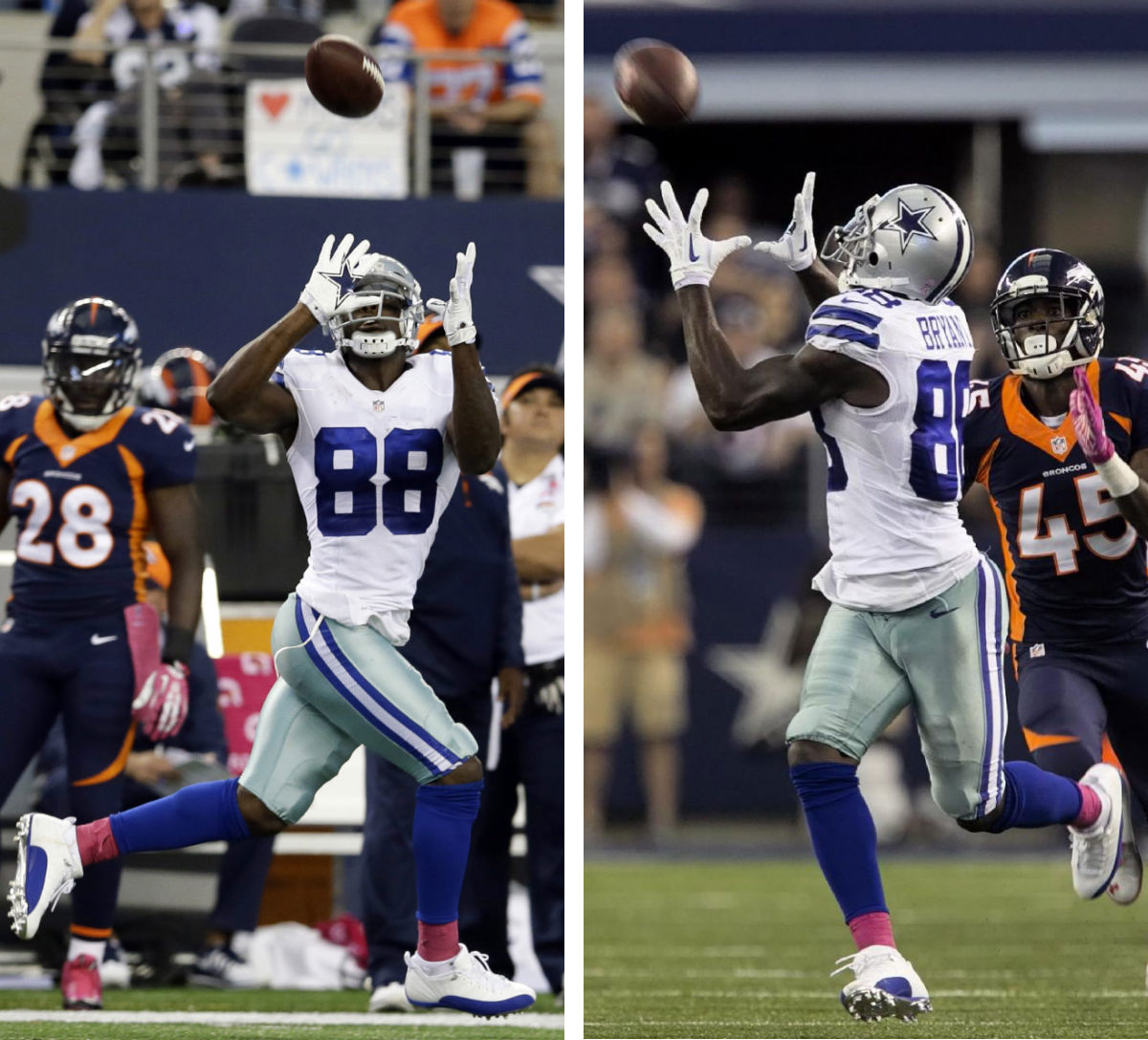 Dez Bryant Wears Air Jordan 12 XII Low Dallas Cowboys PE Cleats (9)