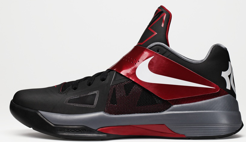 372bd9a3100 Nike Zoom KD IV  TB  473679-003 Black White-Varsity Red