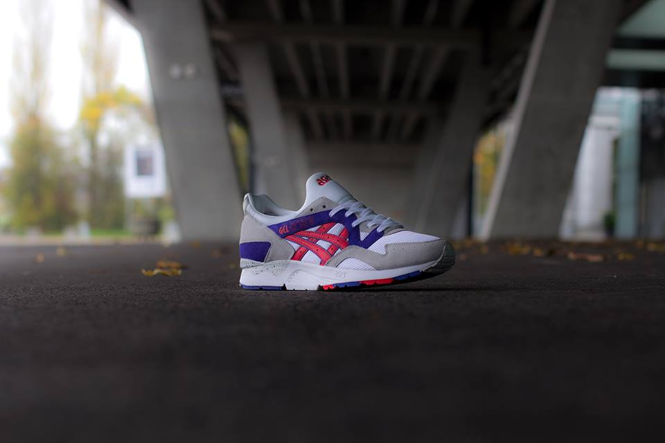 ASICS Gel Lyte V in White and Fiery Red