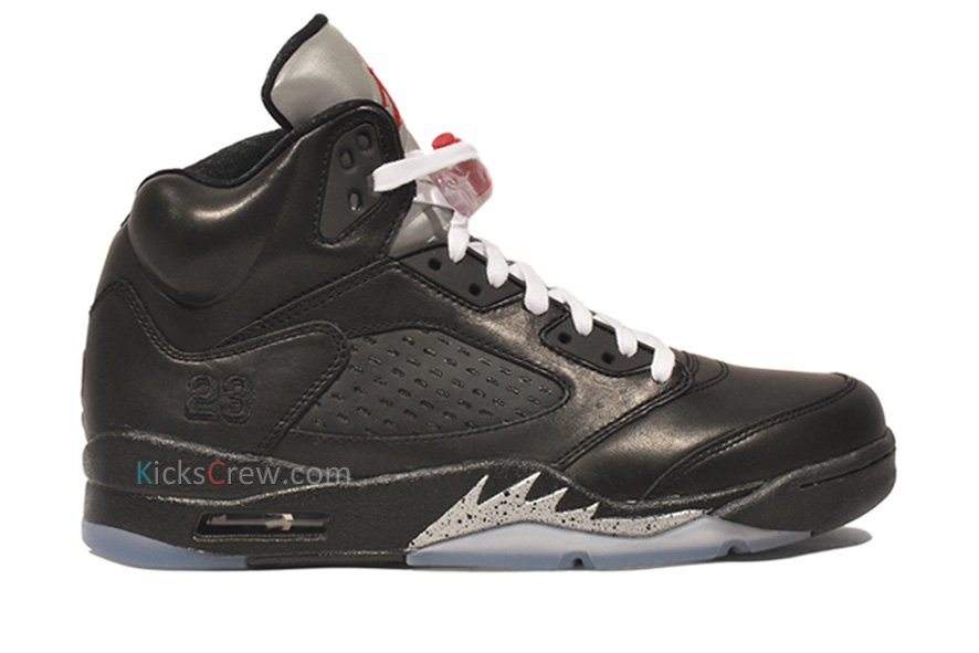 new products 6eb6f d1bdc Air Jordan Retro 5 Premio Black Metallic Silver 444844-001