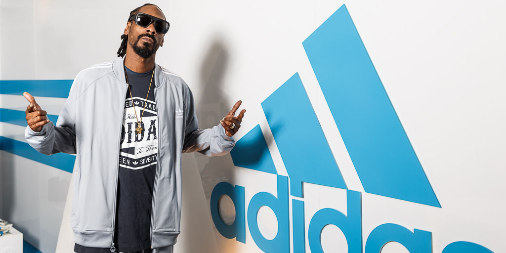 New adidas Director of Football Development Snoop Dogg in Indy for the Combine