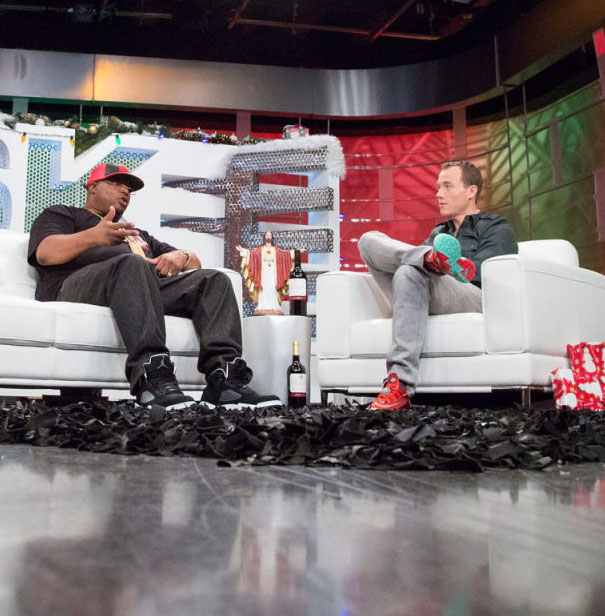 DJ Skee wearing Nike KD 6 Christmas
