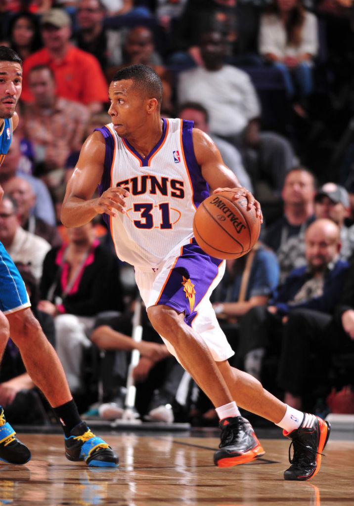 Sebastian Telfair wearing adidas adizero Crazy Light 2