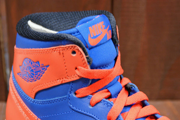 Air Jordan Retro I 1 High OG Knicks Melo Game Royal Team Orange 555088-407 (4)