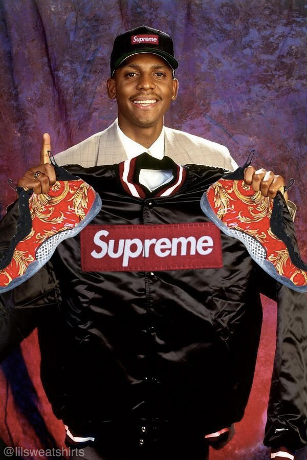 Photo Of The Day // Penny Hardaway With Supreme ...