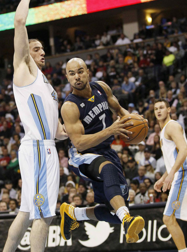 Jerryd Bayless wearing adidas Crazy Shadow Black Yellow