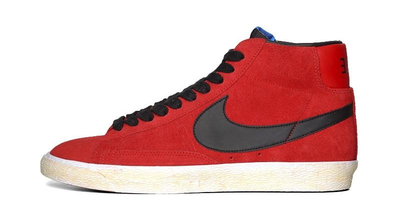 nike blazer red and black