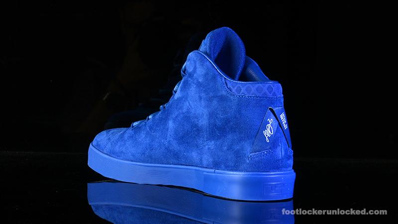c8493de500 LeBron James  Blue Suede Shoes