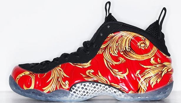 Nike Air Foamposite One Supreme SP Sport Red/Black-Metallic Gold