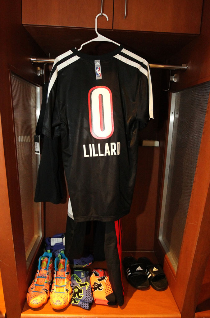 Damian Lillard's All-Star Locker