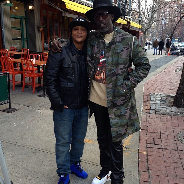 Michael K. Williams wearing Nike Air Force 1 RT; Snoop Pearson wearing Nike Air Max Barkley GS