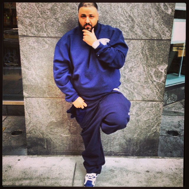 DJ Khaled wearing Air Jordan 6 VI Retro Olympic