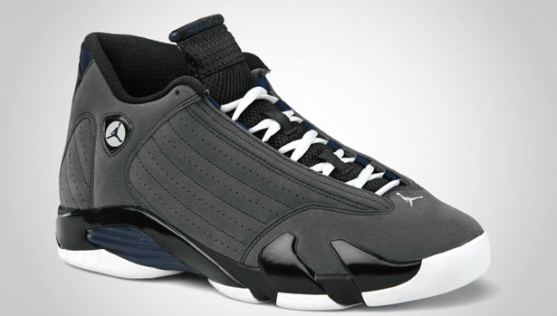 50c0a19fb47063 Air Jordan 14 Retro Light Graphite Navy Black shoes