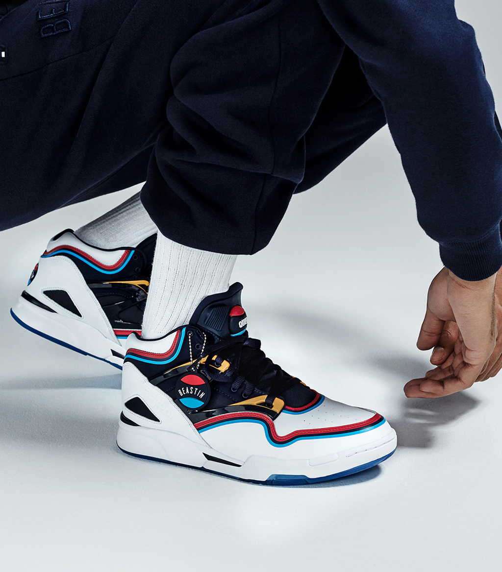 bc045050fe19 The Reebok Pump Omni Lite Gets a German Makeover. Vintage race cars and  sail jackets come together on these Pumps.