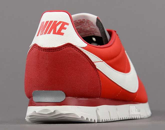 Nike Cortez NM QS in Chilling Red heel
