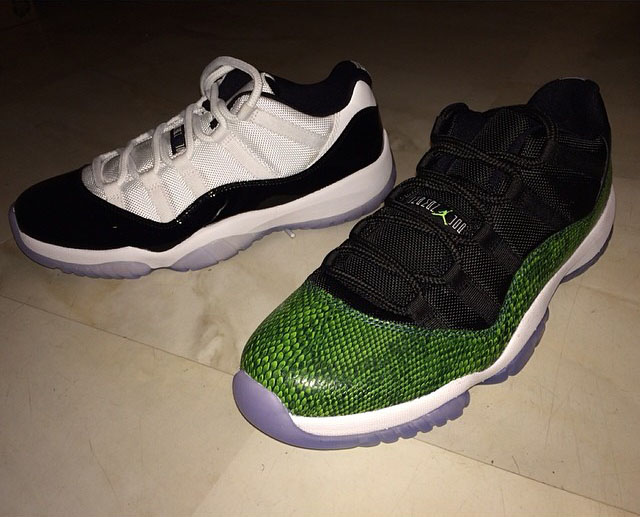 Fabolous Picks Up Air Jordan XI 11 Low Green Snake & Concord