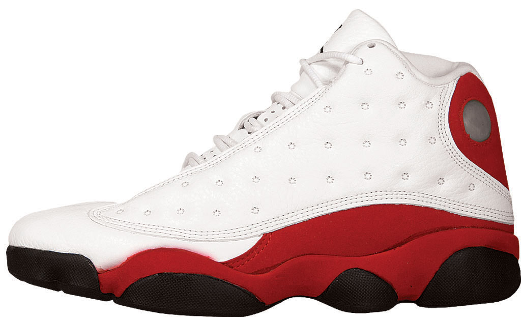 Air Jordan XIII. Colorway: White/Black-True Red-Pearl Grey Release