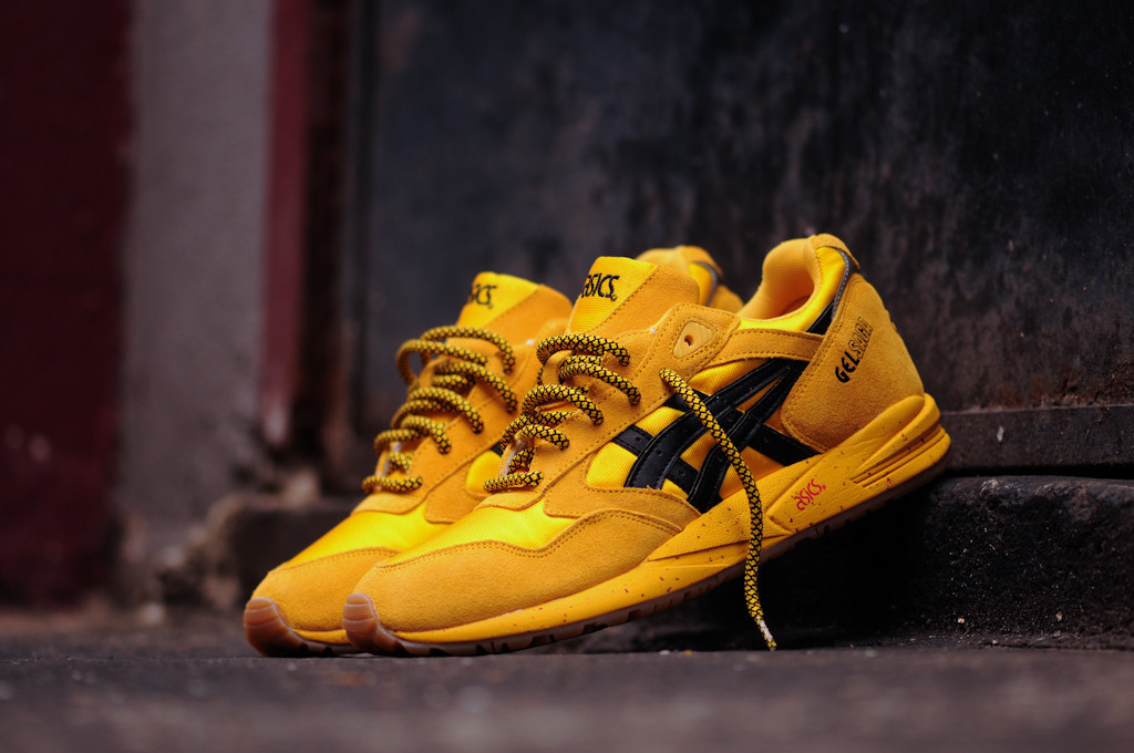 asics gel saga yellow black for sale