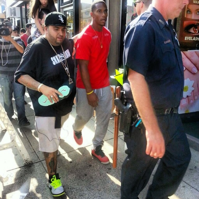Victor Cruz wearing Air Jordan 3 Retro Doernbecher