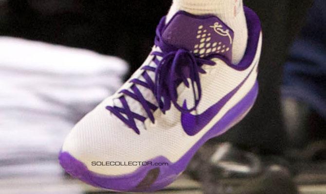 meet 0a685 20ba4 P.J. Tucker wearing Nike Kobe X 10 White Purple (3)