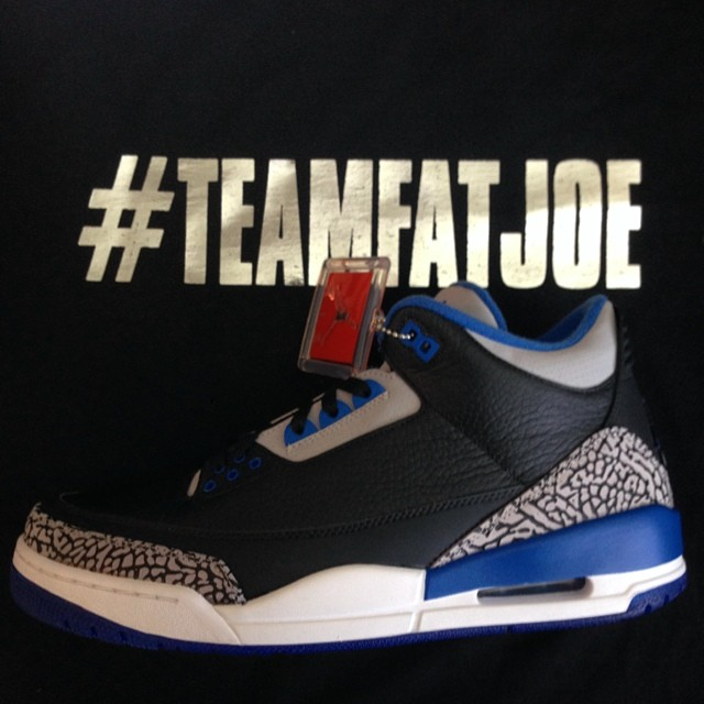 Fat Joe Picks Up Air Jordan III 3 Sport Blue