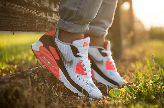 Mjwreig in the  Infrared  Nike Air Max 90 HYP. b7ecaa9cb