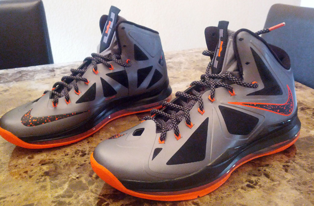 Nike LeBron 10 X Silver Black Orange