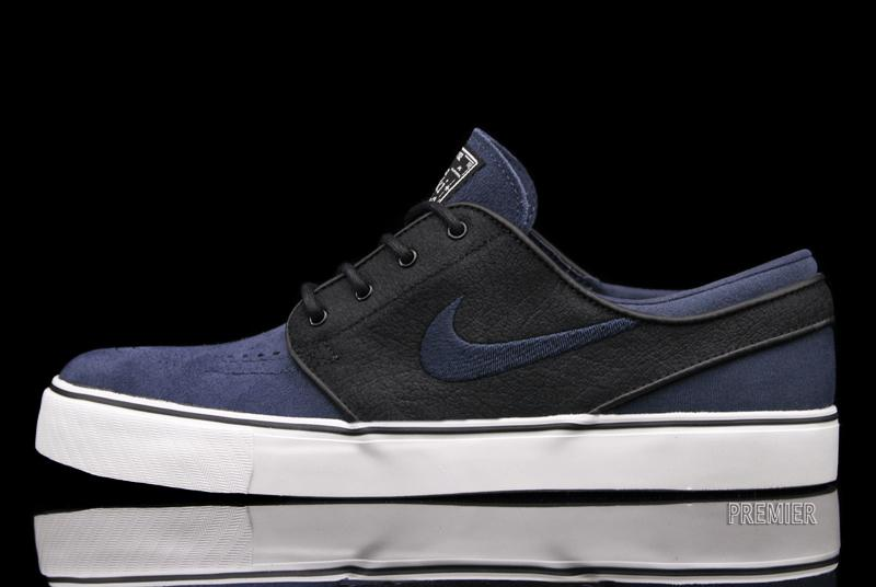 The Black/Deep Ocean-Swan Nike SB Zoom Stefan Janoski releases this  February at Nike SB accounts, including online at Premier.