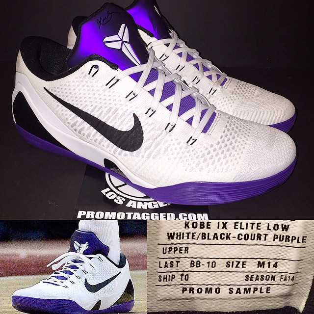 dbfe7fdb36bd A Closer Look at Kobe Bryant s  Court Purple  Nike Kobe 9 Elite Low ...