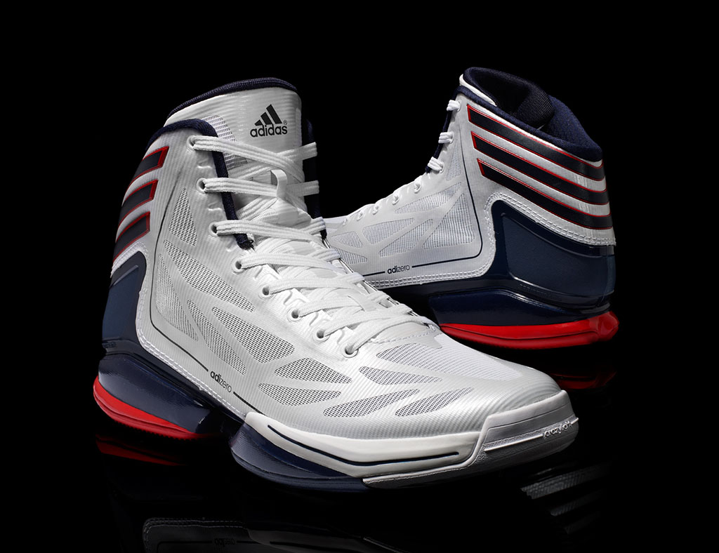 1694d6f39f5d2 adidas adiZero Crazy Light 2 USA Olympic 4th of July White Navy Red G48805  (3