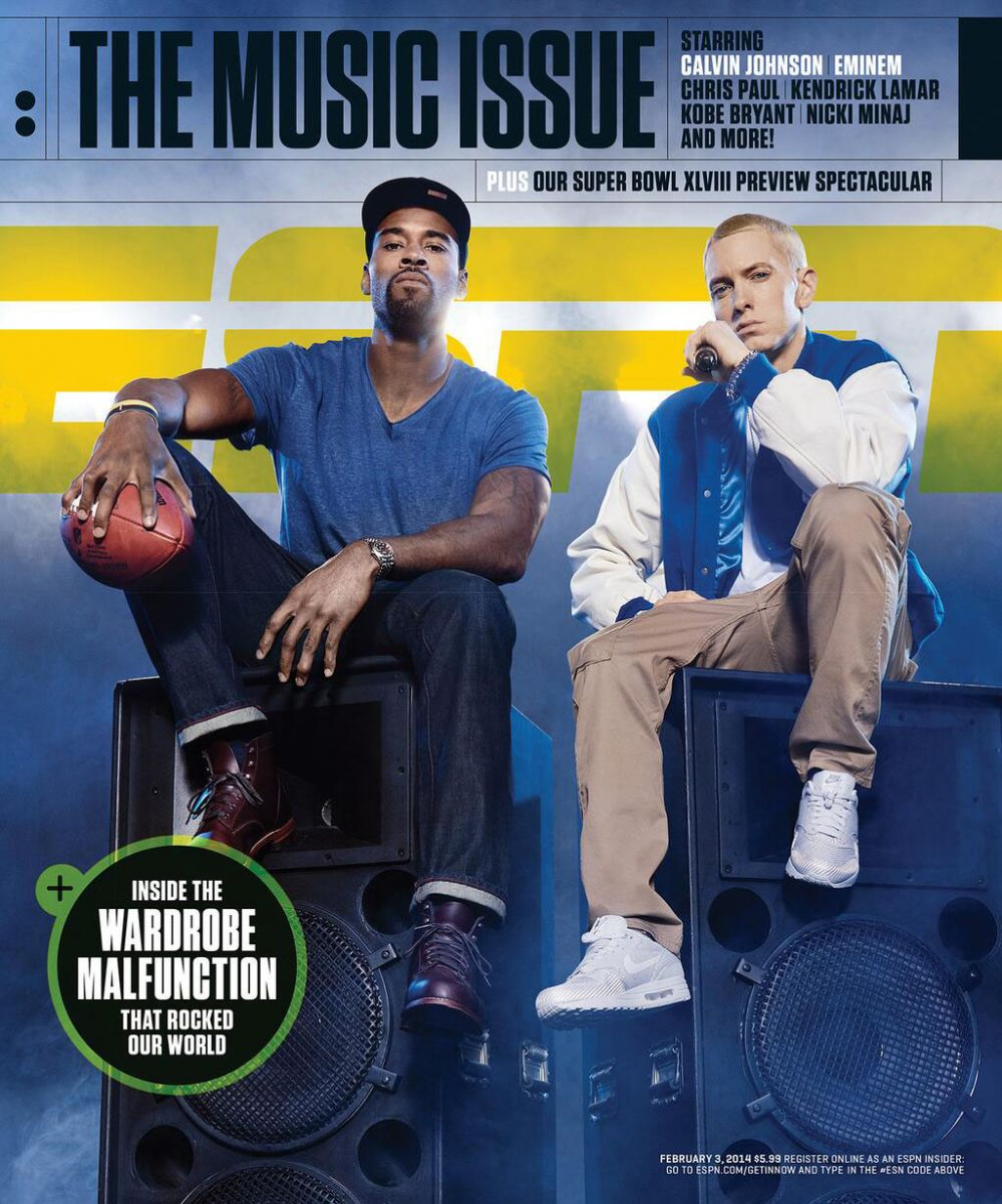 Calvin Johnson & Eminem Cover ESPN The Magazine