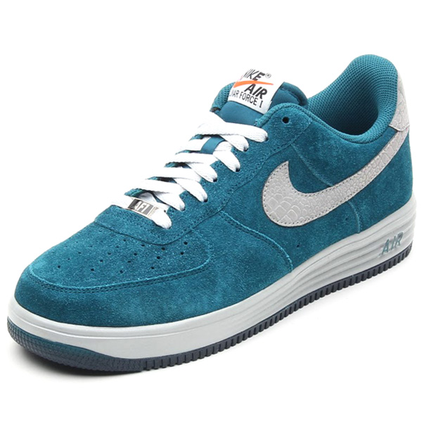 nike lunar force 1 in dark sea suede and reflective silver croc 2