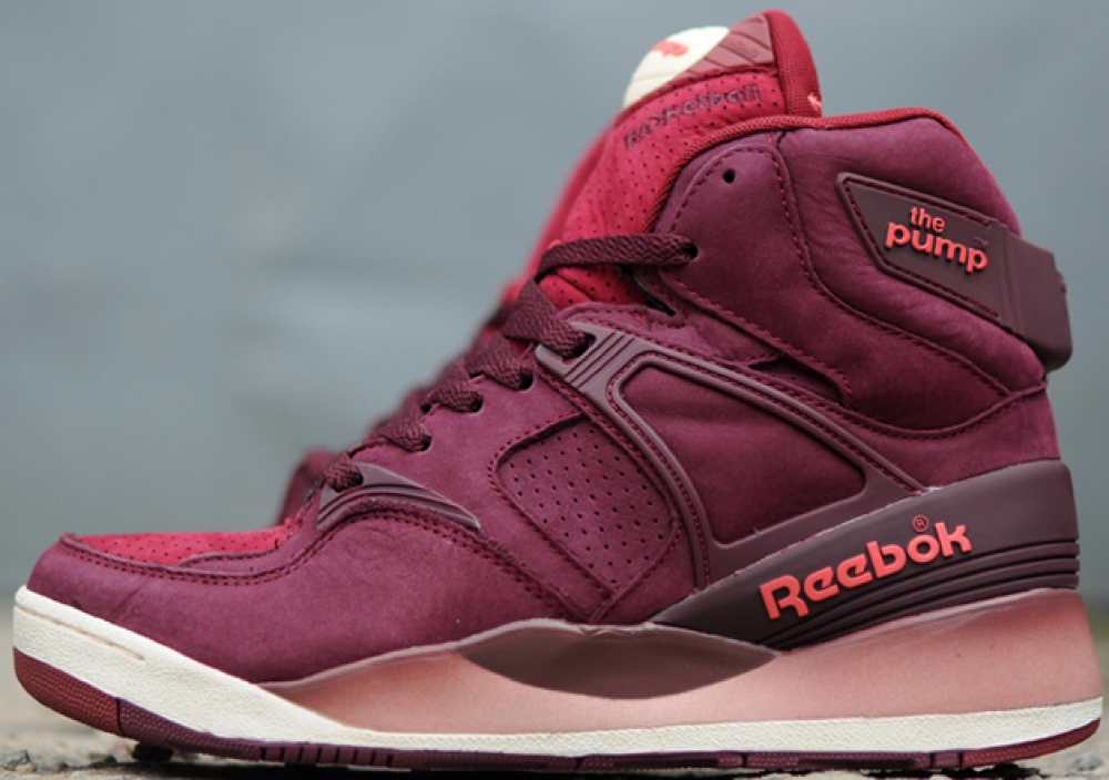 Reebok The Pump Certified Dark Red/Burgundy-Cream White